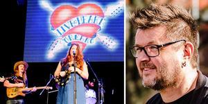 Vänster: bild från Live at Heart i Örebro. Höger: arrangören Mikael Gottberg.