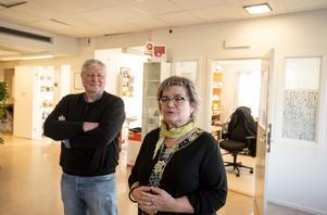 Verdandis förbundssekreterare Lars Ohly och organisationens ordförande i Dalarna, Annakari Berglund.