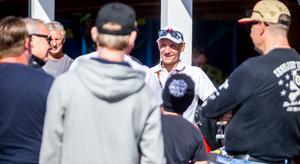 Fredrik Lindgren är klar för final i lag-VM tillsammans med Peter Ljung och Filip Hjelmland.