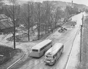 Bildtext 1954: Skultunavägens