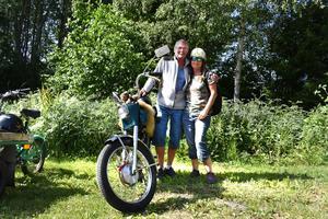 Robert Mannström och Tina Andersson åkte tillsammans under söndagens rally.