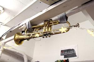 Musikinstrument funkar bra som inredningsdetaljer.