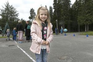 Signe Åström såg fram emot att börja i förskoleklass.