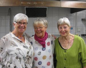 Vi som jobbade i köket är från vänster Helén Östmar Rosdahl, Inger Nordwall och Kristina Själin.