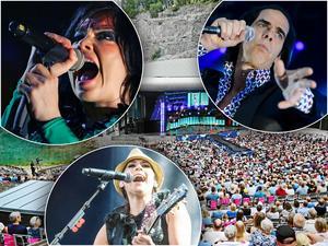 Björk, Nick Cave och Jill Johnson är några av de artister som spelar i Dalarna i år.