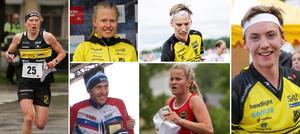Övriga landslagslöpare från Dalarna 2020. Från vänster: Tove Alexandersson, Tilda Östberg, William Lind, Emil Svensk, Ella Olsson och Viktor Svensk.