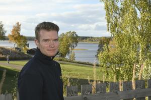 Johan Szymanski i Särna, en månad efter den stora branden.