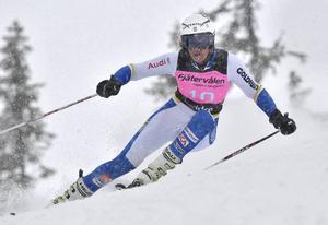 Anna Swenn-Larsson, Rättviks SLK tvåa i snöyran på Fjätervålen.