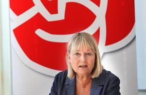 Marita Ulvskog (S) borde för länge sedan ha drivit sitt rumänska systerparti ut ur socialistgruppen i Europaparlamentet. Det menar krönikören Amelia Andersdotter. Foto: Curt Kvicker