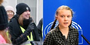 Två unga klimataktivister. Tyra Blum från Norrtälje och Greta Thunberg, grundaren av Fridays for Future. Bild: Måna J Roos/Wiktor Nummelin/TT