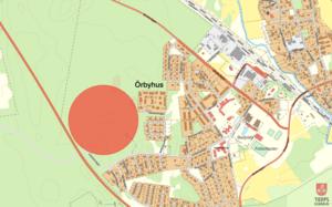 Här planerar Tierps kommun på att bygga bostadsområdet