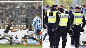 Polisen har fått mycket kritik efter det allsvenska derbyt mellan AIK och Djurgården som slutade  2-0 till AIK.