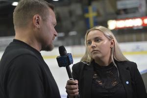 Sundsvalls Tidnings reporter Jennifer Engström under SCA-cupen 2019.