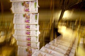 Tidningstryckeri, där Svenska Dagbladet trycks. Foto: Staffan Löwstedt / SvD.