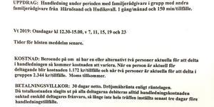 Välfärdsförvaltningen ville inte att Häggqvist skulle få veta vad handledningen kostar kommunen.