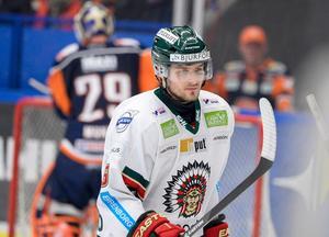 Mikael Wikstrand, i en Frölundatröja, säsongen 2013-14. Foto: TT.