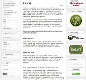 Abdel Nasser ElNadi kallas i muslimska kretsar för Abo Talal. Bilden är en skärmdump från hemsidan muslim.se, där det står att imamerna Abo Talal och Abo Raad är ansvariga för innehållet.
