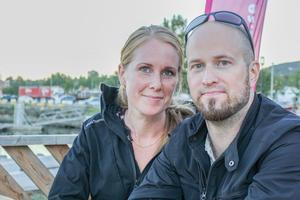 Elisabet och Daniel Funseth var på Sundsvall Pride under torsdagskvällen.