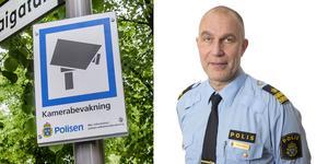 """""""Vi har ungefär tio kameror uppsatta i Södertälje men det är inte igång, vi väntar på att avtalen ska bli klara"""" säger Stefan Singman projektledare på polisen."""