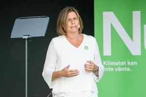 Isabella Lövin, miljöpartiets språkrör och vice statsminister. Sommartal i Avesta 2018