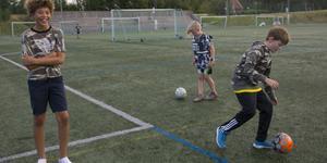 Quincie McIntosh Gustafsson, 13 år, och klasskamraterna Isak Pihlblad och Leo Magnusson i fjärde klass var tre av besökarna.