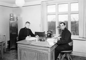 Poliskontoret, Almby, 1942. Fotograf: Eric Sjöqvist