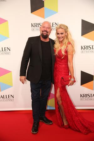 Anders Bagge med hustrun Johanna. Foto: Sören Andersson/TT.