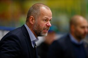 Markus Åkerblom, Tingsryds tränare, var tillbaka i Leksand. Foto: Johan Löf/Bildbyrån
