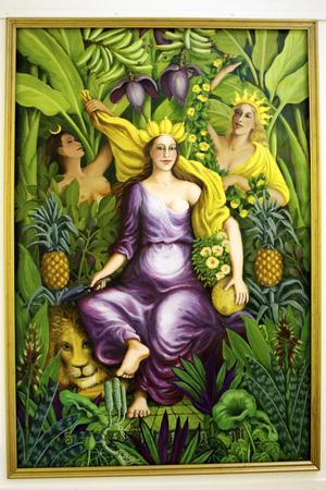Det största verket i utställningen är målningen Titania av Wänn.