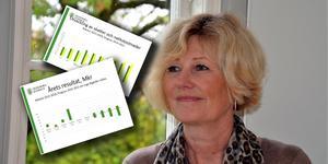 Kommundirektör Annika Strand har tagit fram en bruttolista på sparåtgärder åt nämnderna med stora underskott.  Hon hoppas det kan hjälpa nämnderna att arbeta fram sparåtgärder till juni. Foto: Berit Zöllner