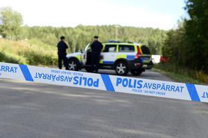 En misstänkt granat hittades på Blåbergstippen.