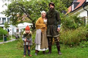 Treåriga Helmer Anglemark har växt upp med vikingakultur omkring sig.