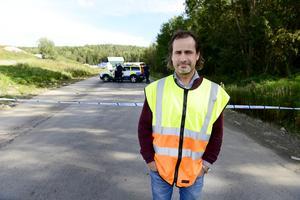 Rikard Fürst, platschef på Blåbergets avfallsanläggning.