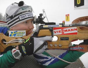 Anna Maria Nilsson, som 23-åring, på Östersunds skidstation. Foto: Hans-Råger Bergström