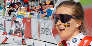 Den 28 mars hyllas skidstjärnan Stina Nilsson hemma i Malung, efter sin säsong som både innehållit skadebekymmer och VM-succé i Seefeld med flera medaljer.