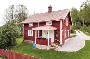 Villa i Bjursås med 2 500 kvm tomt. Foto: Kristofer Skog Husfoto