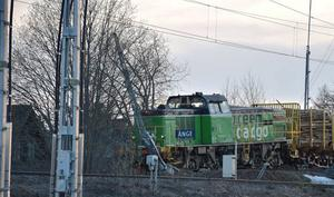 Det urspårade godståget. Läsarbild: Per Nilsson
