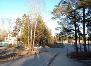Det planerade området från Körundavägen. Foto: Nynäshamns kommun