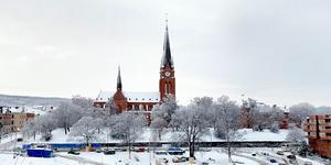 GA-kyrkan i vinterskrud. Bild: Robin Brinck