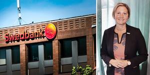 Linda Jonsson blir kontorschef för samtliga Swedbanks kontor i Dalarna. Bilden är ett montage,