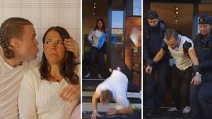 Robin Bryntesson och Charlotte Kalla i den uppmärksammade musikvideon. Bild: Youtube.