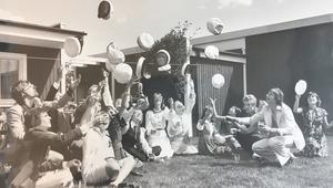 Glada studenter 1976. Foto: Per-Ola Holm/VLT:s arkiv
