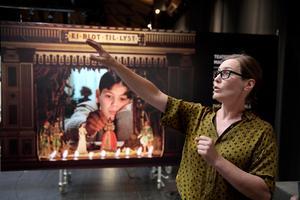 Ingmar Bergmans registol är ett av de originalföremål som visas i utställningen