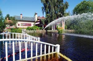 Foto: Kjell Jansson/arkiv.Sommaren 2000 drabbades Carl Larsson-gården i Sundborn av stora översvämningar.
