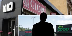Den envise och emellanåt aggressive mannen har besökt ett flertal butiker i Ludvika och försökt driva igenom återköp, utan kvitto och med varor som har tagits i butikerna.