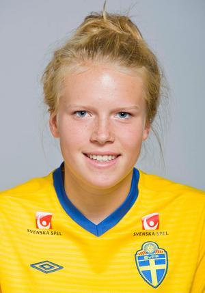 Som 15-åring var Lisa Hörnblad med på flera landslagssamlingar på ungdomsnivå i fotboll. FOTO: Bildbyrån