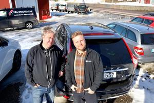 Björn Persson och Christian Saastamoinen driver Bilkonsult i Njurunda. Nu planerar de att bygga en ny bilhall vid Skottsundsvägen.