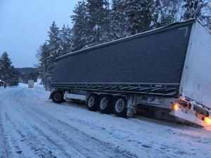 Trafikradion varnade för att det var trångt att passera i norrgående riktning. Foto: Jonny Lindblom.