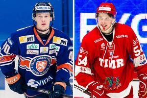 Elias Pettersson och Jonathan Dahlén gjorde succé i Timrå tillsammans. Nu gör de succé i olika ligor. Bild: Bildbyrån/Montage