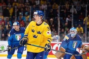 Oskar Lindblom spelar sitt första VM och har gjort tre mål så här långt. Bild: Joel Marklund/Bildbyrån